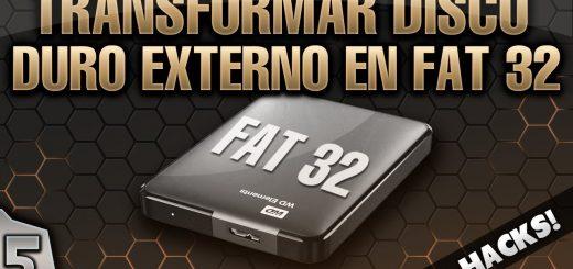 formatear fat 32