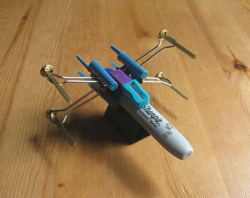 X-Wing-Fighter-from-Office-Supplies