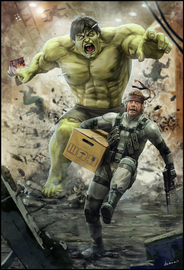 solid_snake_vs_hulk_by_hokunin