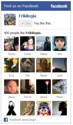 400 frikilogos en Facebook