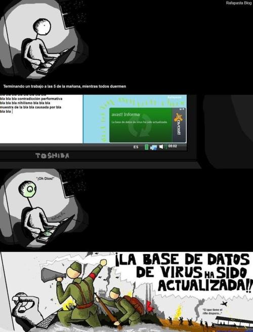 La base de datos de virus a sido actualizada