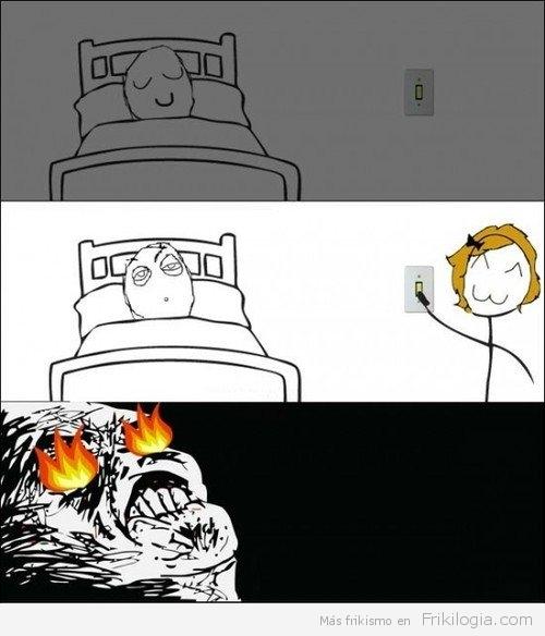 Cuando te encienden la luz del cuarto