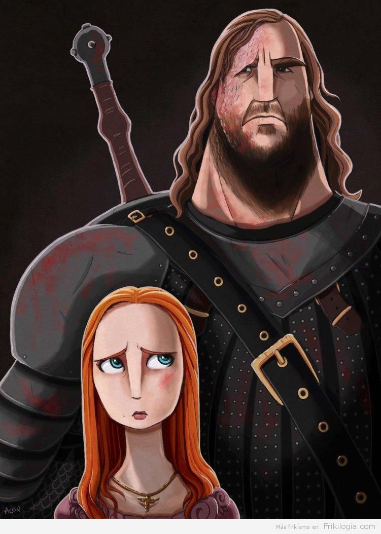 The Hound y Sansa Stark
