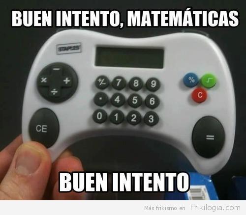 Mando de consola calculadora