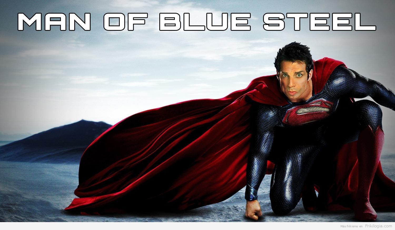 el hombre de acero azul