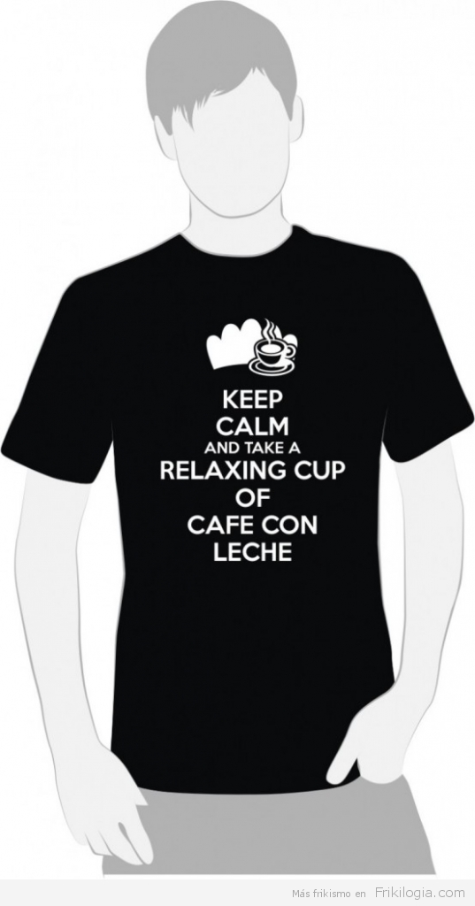 """Keep Calm And Take a Relaxing Cup of CAFE CON LECHE  """"MADRID 2020""""  """"El Perro Encendido ®"""""""