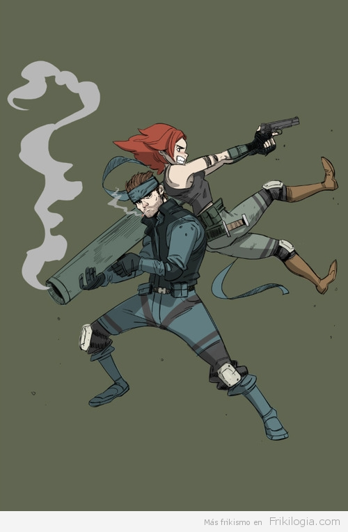 Snake & Meryl Metal Gear Solid