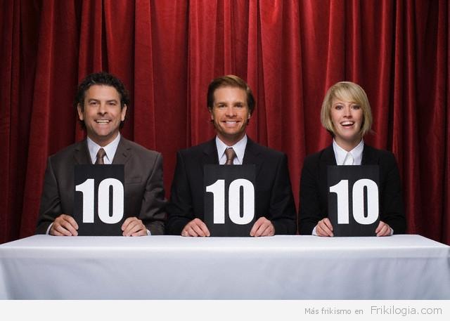 Three competition judges