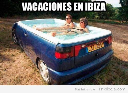 piscina coche ibiza