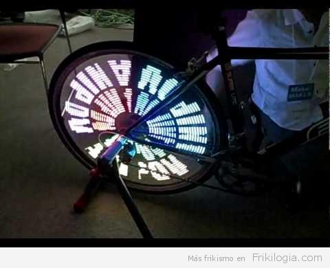Arte tecno-friky en movimiento para ciclistas geeks