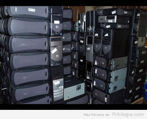 Trituración de piezas de ordenadores