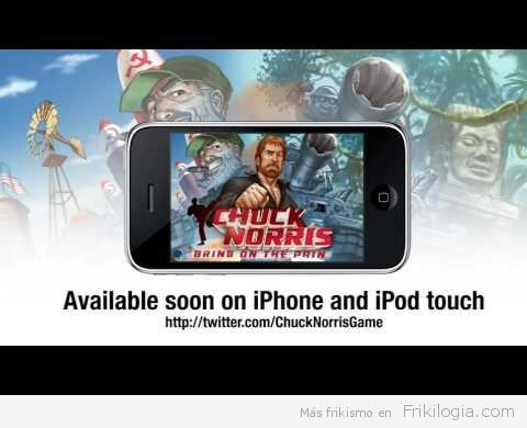 Videojuego de Chuck Norris para iPhone