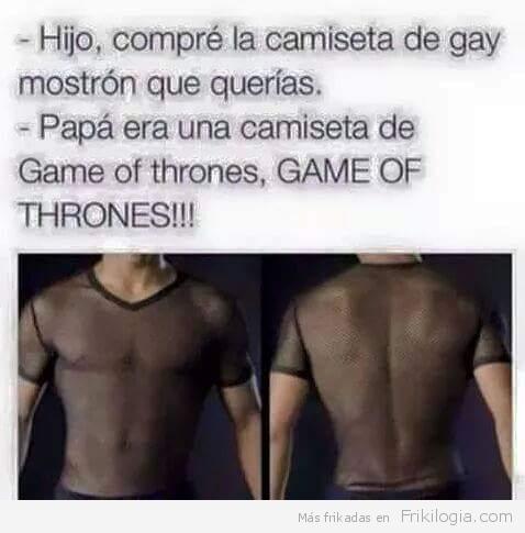 Camiseta de Game of thrones